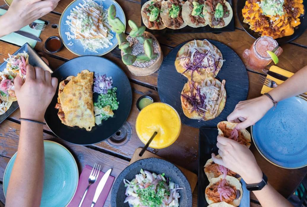 Tacos y fajitas. restaurante Gave Mx, Ibiza