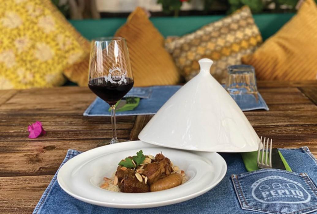 Tajín de cordero. Restaurante Can Pepito, Formentera