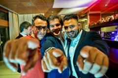 Jesús Trujillo (FaceFoodMag), David Ramos (Klimer) y Ruben Forcada (Estrella Damm)