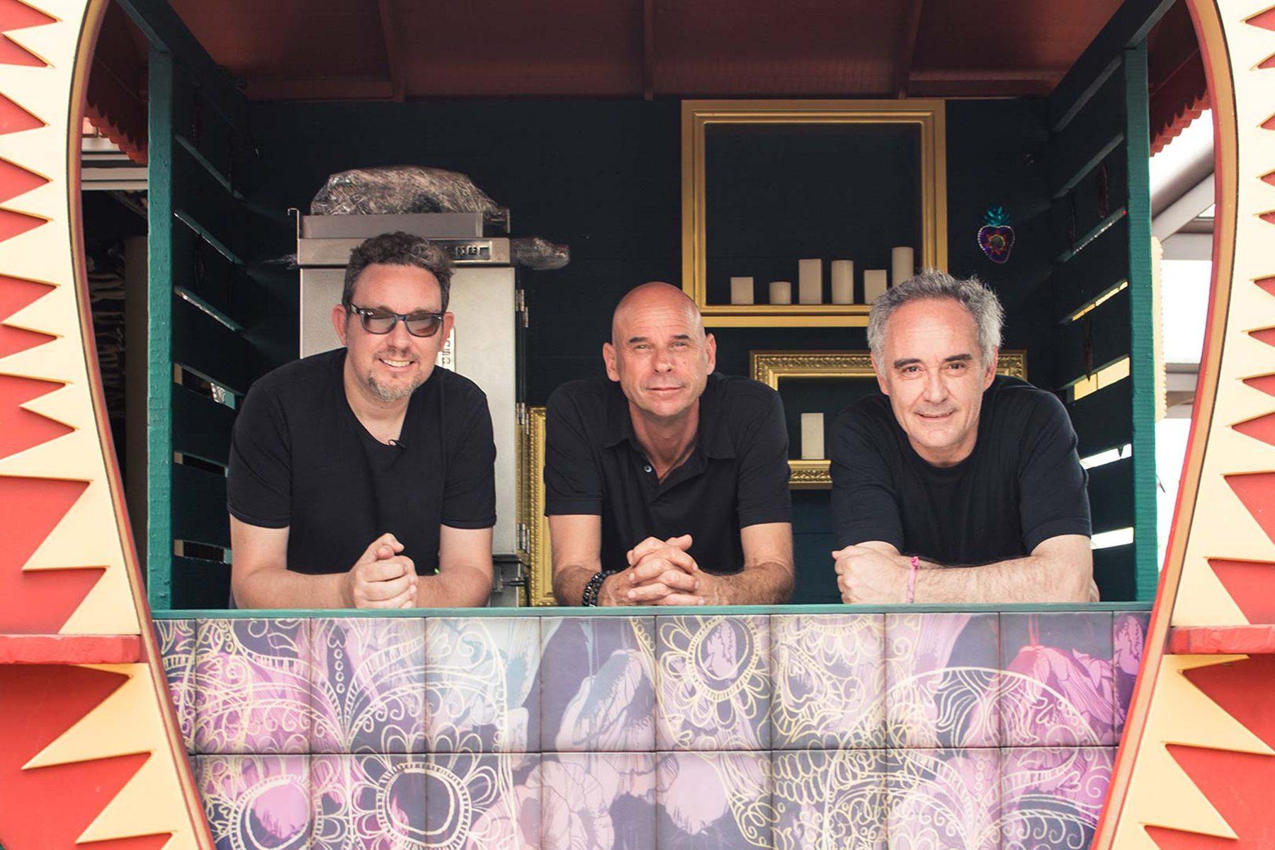 Albert Adrià, Guy Laliberté y Ferran Adrià. Propietarios de Heart Ibiza