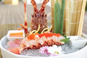 Lobster dish at Blue Marlin Ibiza