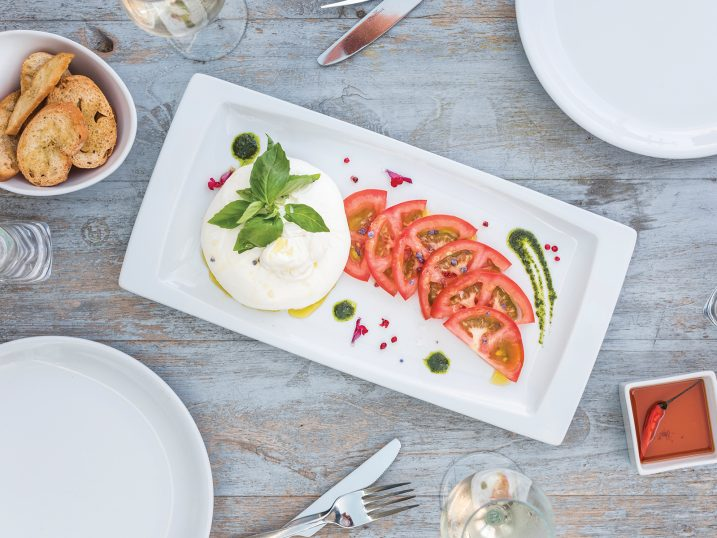Burrata. Sir Rocco Beach by Ushuaia, Ibiza
