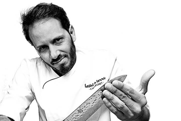 Juan Manuel Sabatino, Head Chef of Hostal La Torre. Ibiza