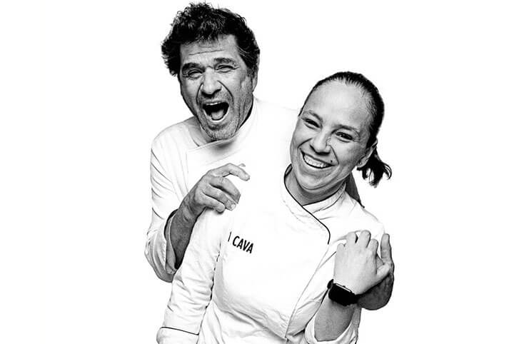 David and Elizabeth are the heart of La Cava restaurant in Ibiza.