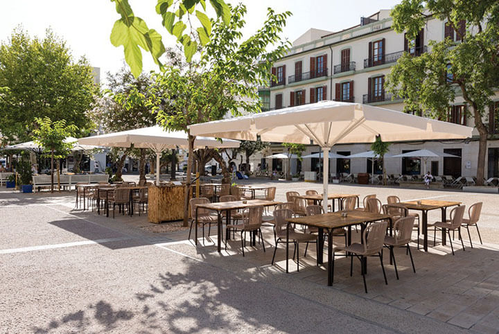La Cava restaurant terrace. Ibiza