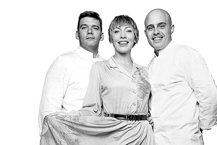 Leah, Filippo y Massimo, el equipo de El Portalón. Ibiza