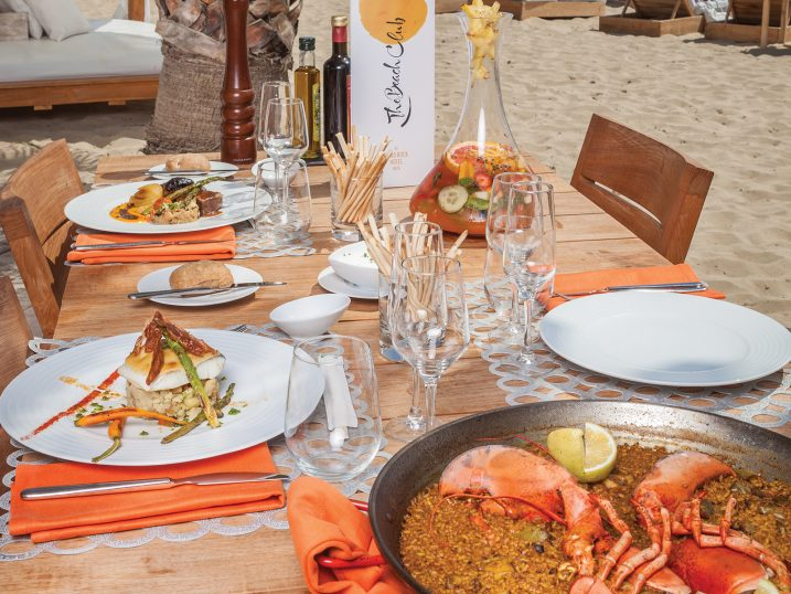 Paella de marisco. The Beach at Hard Rock Hotel Ibiza