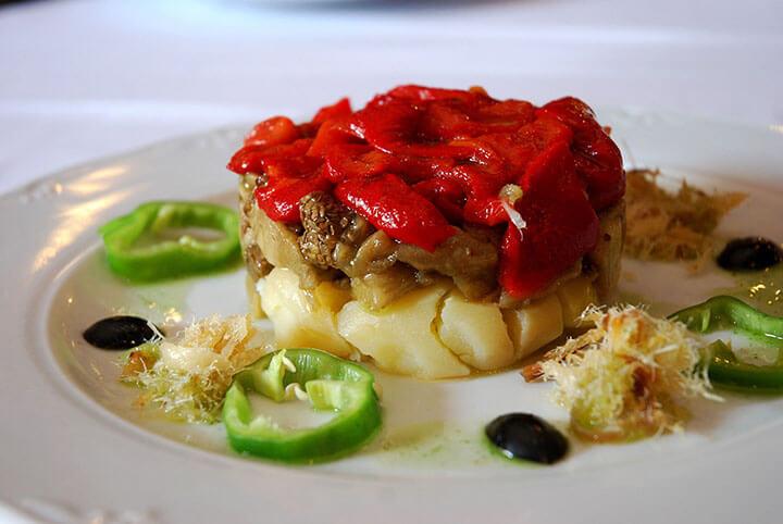 Pagesa salad. Typical dish of Ibiza