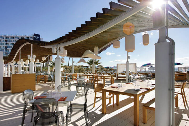 Restaurante The Beach at Hard Rock Hotel Ibiza