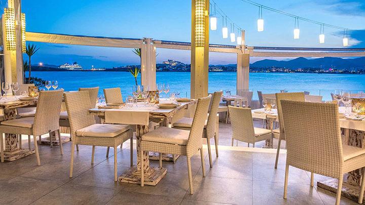 Sa Punta restaurant terrace. Ibiza