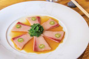 Sashimi de Hamachi y japapeño