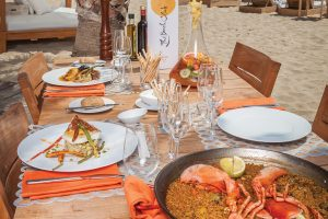 Seafood paella. The Beach at Hard Rock Hotel Ibiza