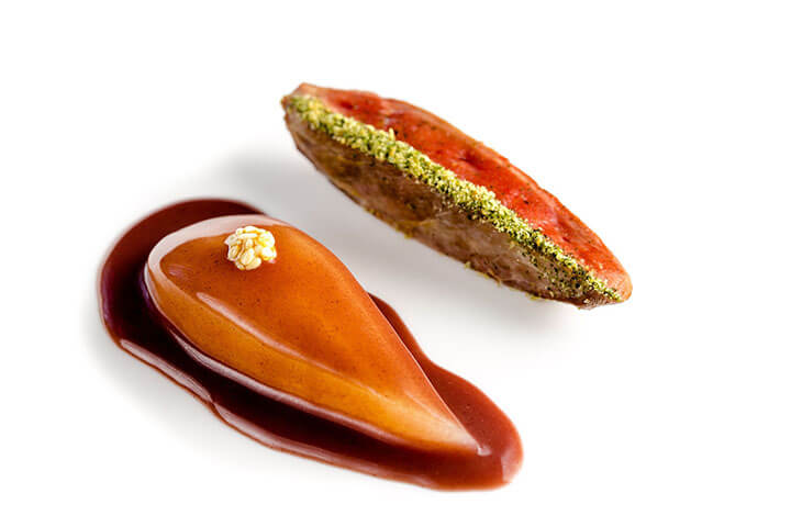 Pichón con pera. Restaurante Enigma de Albert Adrià