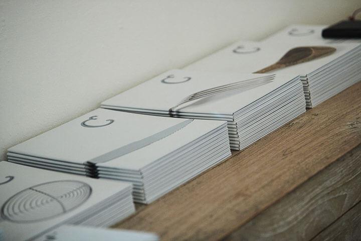 Diseño de cartas Can Dani, Formentera