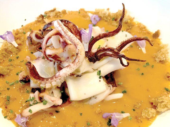 Octopus dish. Casbah Formentera Restaurant