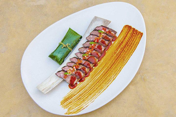 Steak annatto by Coricancha Restaurant. Ibiza