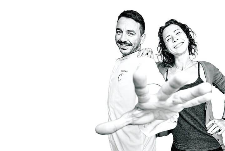 Cristian y Giorgia. Restaurante Can Dani, Formentera