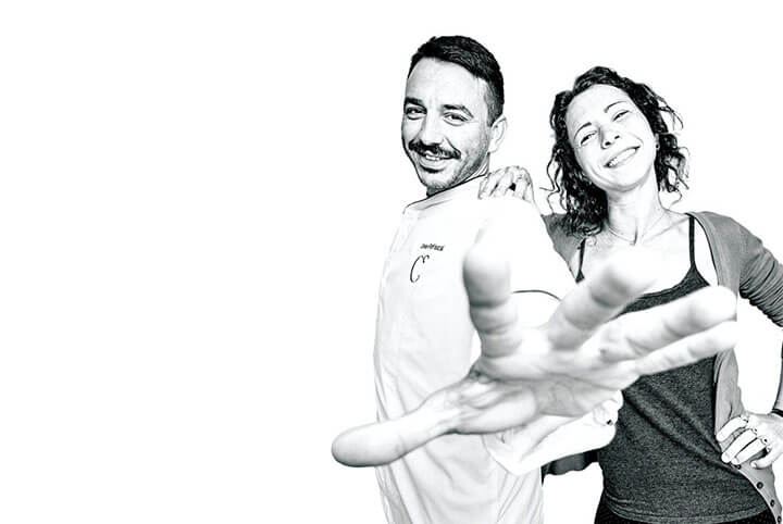 Cristian and Giorgia. Can Dani Restaurant, Formentera