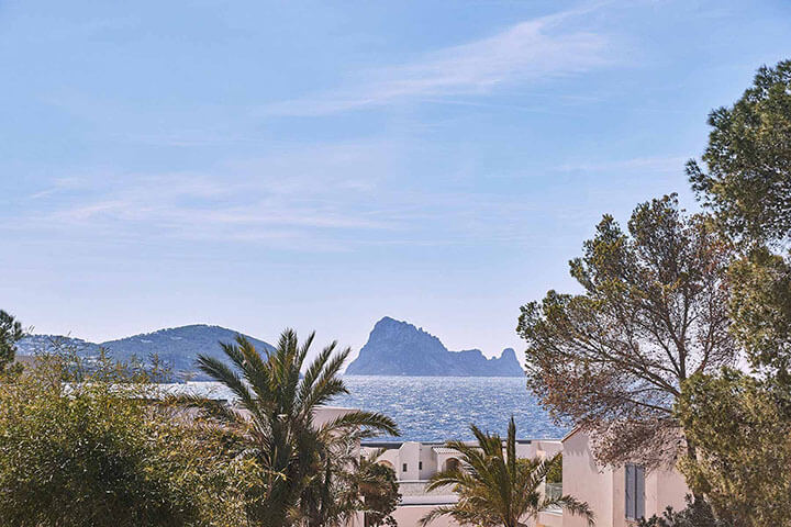Es Vedra view from Seven Pines Resort Ibiza. Ibiza