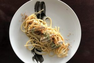 Espaguetis. Restaurante Casadela Cantina y Pescado, Formentera