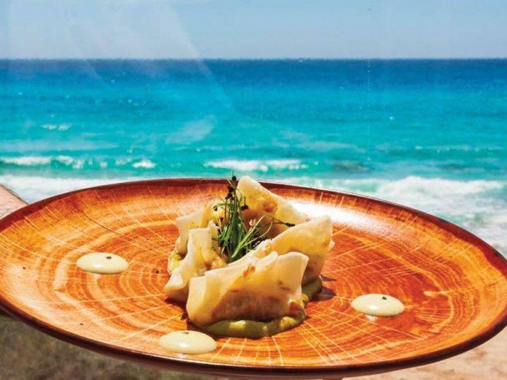Fish gyozas. EsCupinà restaurant, Formentera