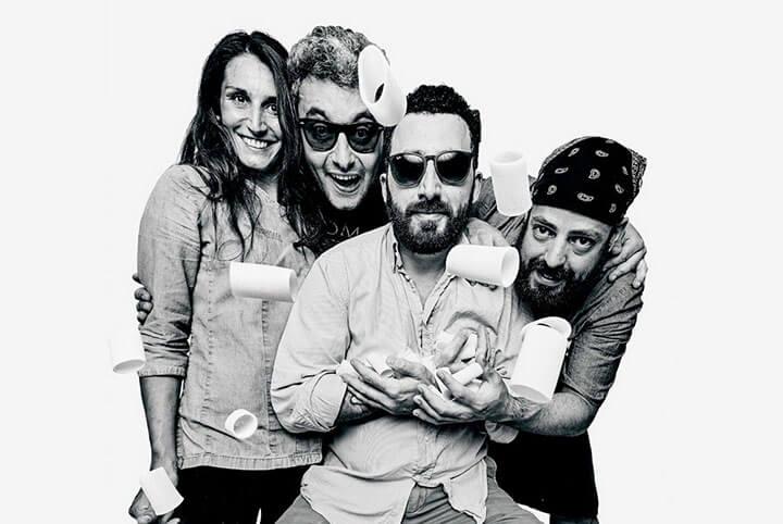 Giulia, Matteo, Santiago y Francesco. El Gioviale, Formentera