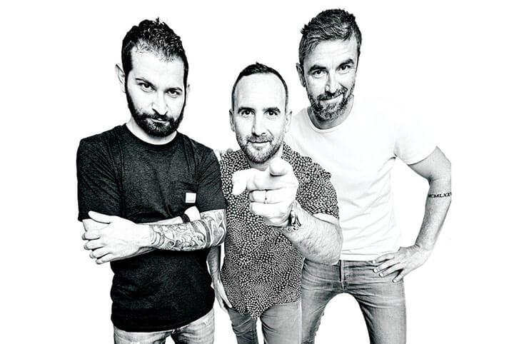 Ignazio, Andre y Marco, equipo del restaurante Bocasalina. Formentera