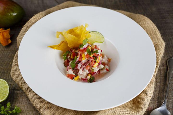 Ceviche de pescado blanco. Linda Di Somma, Ibiza