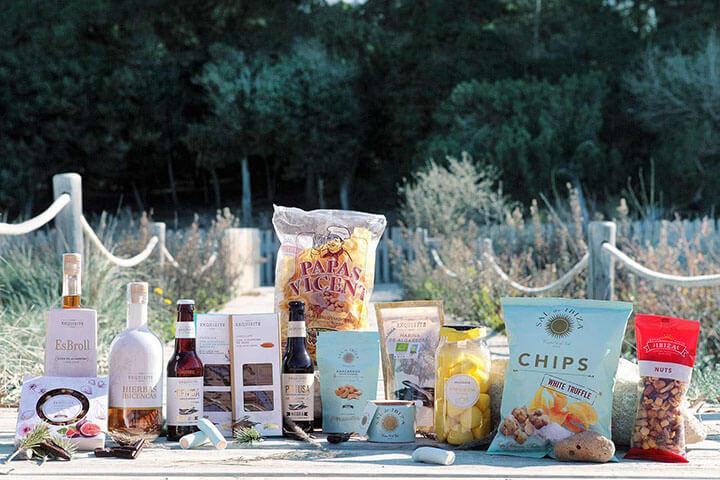 Productos elaborados por Frutos Secos Ibiza.