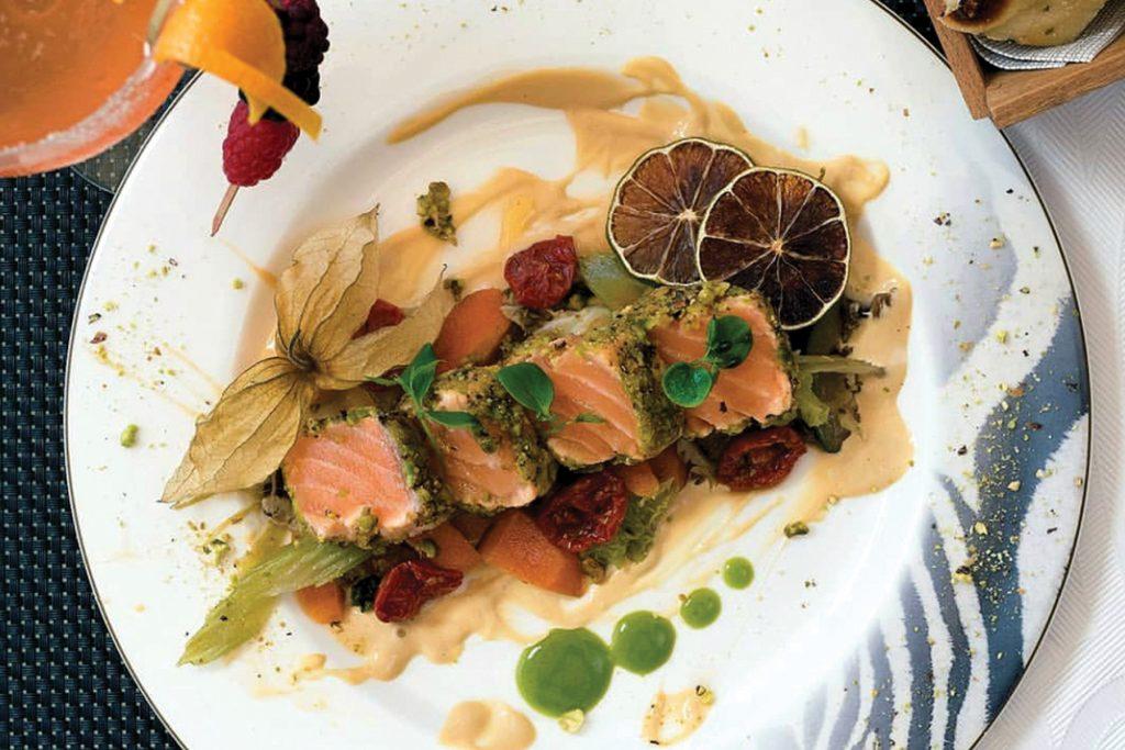 Tataki de salmón. Restante ChezzGerdi, Formentera