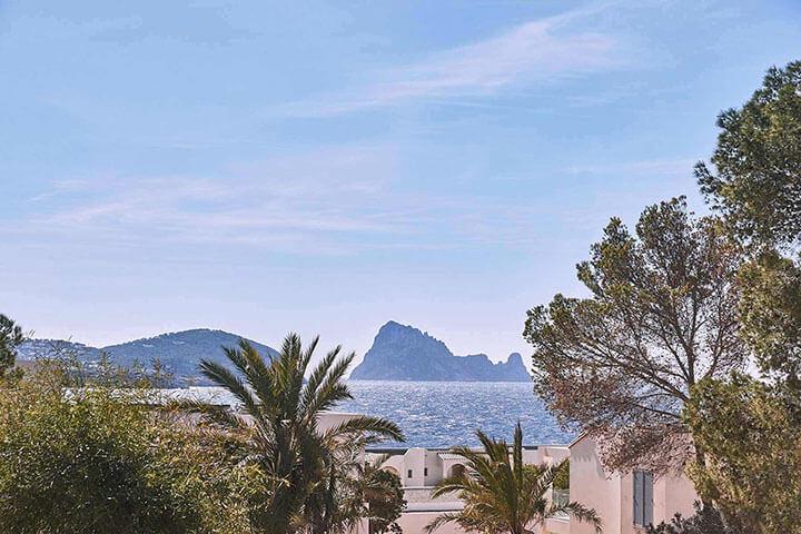 Vistas de Es Vedra desde Seven Pines Resort Ibiza
