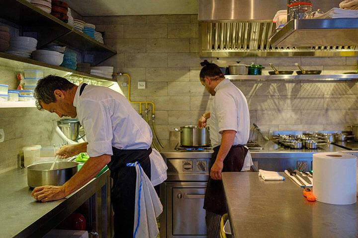 Staff de cocina de Can Domo. Ibiza