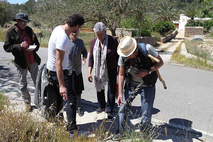 Grupo buscando plantas. Ibiza