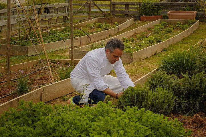 Pau Barba en la Huerta de Can Domo Agroturismo. Ibiza