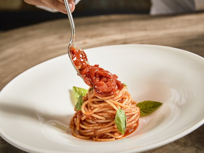 Spaghetti with Vesuvius Tomatoes. It Ibiza Restaurant