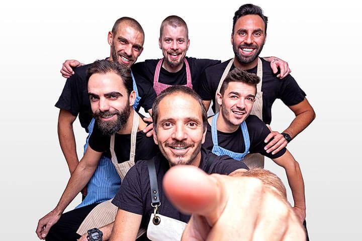Kiko Martins y su equipo en Lisboa