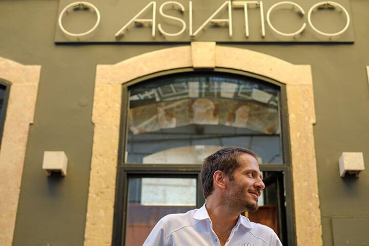 Facade of O Asiático restaurant. Lisbon