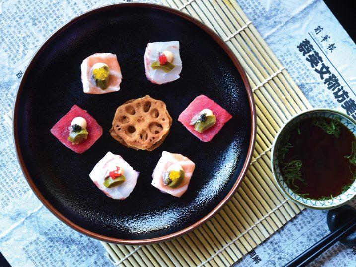 Sashimi do restaurante Yakuza First Floor