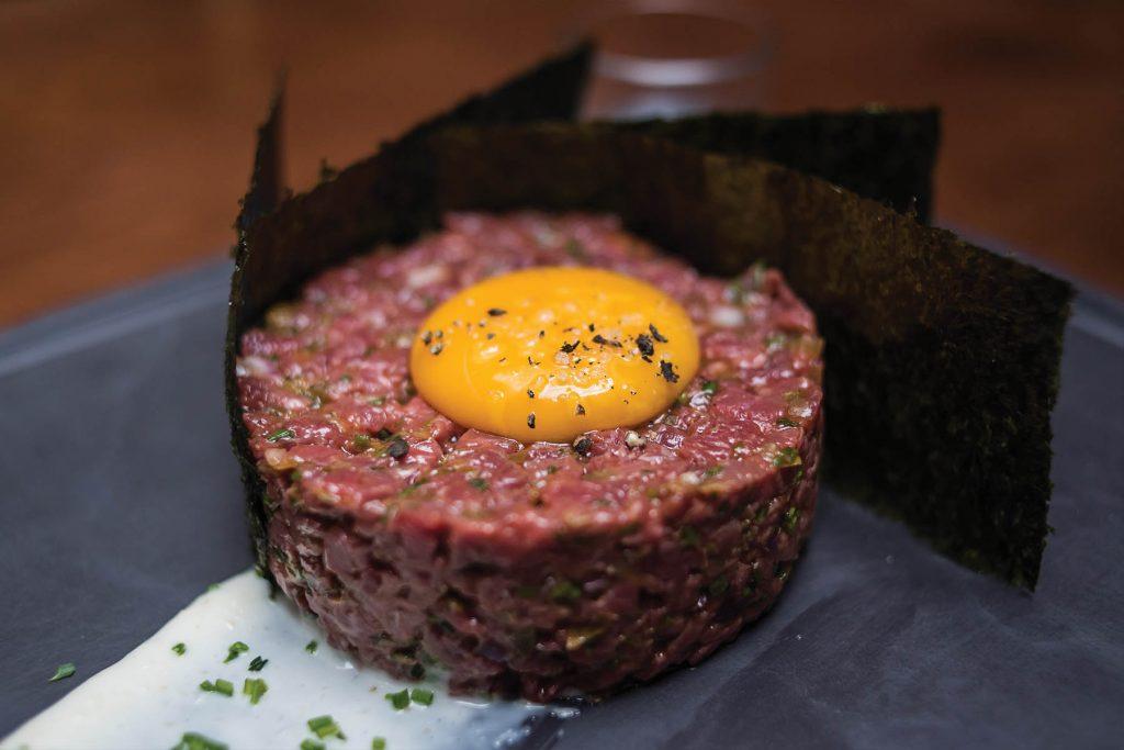 Steak tartar. O Talho restaurant. Lisbon