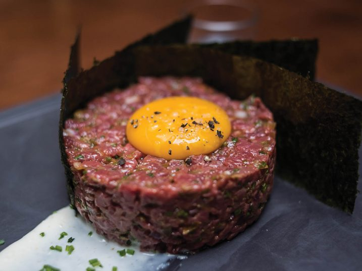 Steak tartar. O Talho restaurant. Lisbon