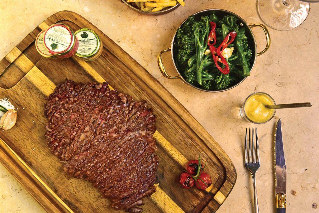 Black Angus steak. Restaurant KOB by Olivier, Lisbon