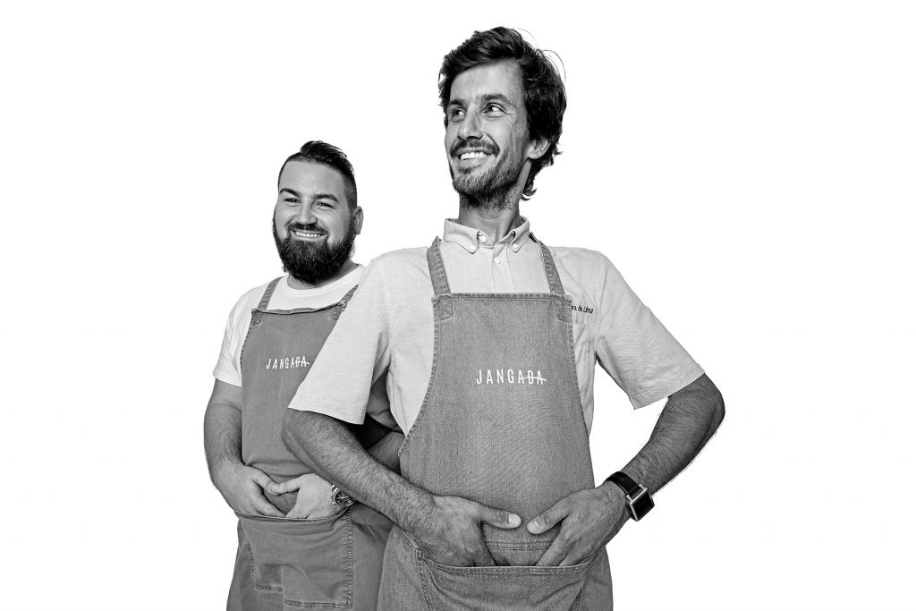André and Nuno, headchef and executive chef of Jangada restaurant. Lisbon