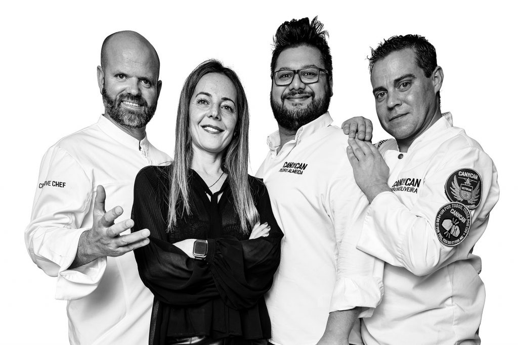 Equipe do restaurante Can the Can. Lisboa