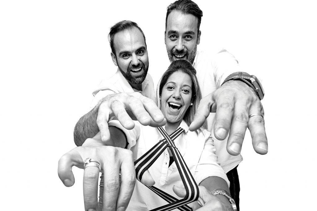 Mario, Pedro e Magali. Restaurante Espada, Lisboa