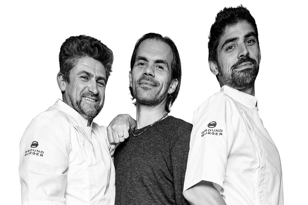 Equipe do restaurante Ground Burger