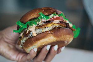 Hambúrguer do restaurante Ground Burger