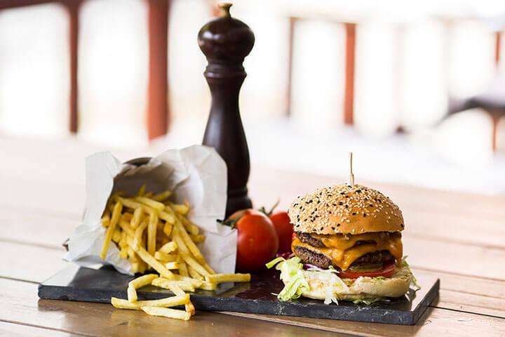 Hamburguesa. Restaurante Guilty. Lisboa