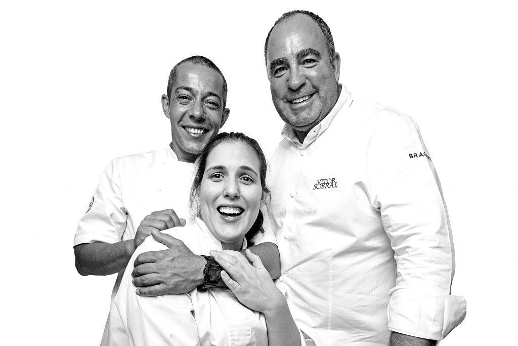 Hugo, Vitor y Ana. Peixeria da Esquina