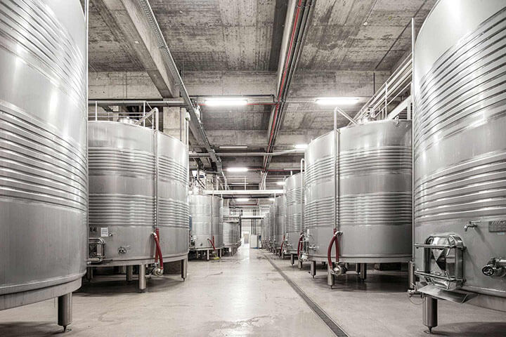 Modern facilities. Casa Santos Lima winery. Lisbon