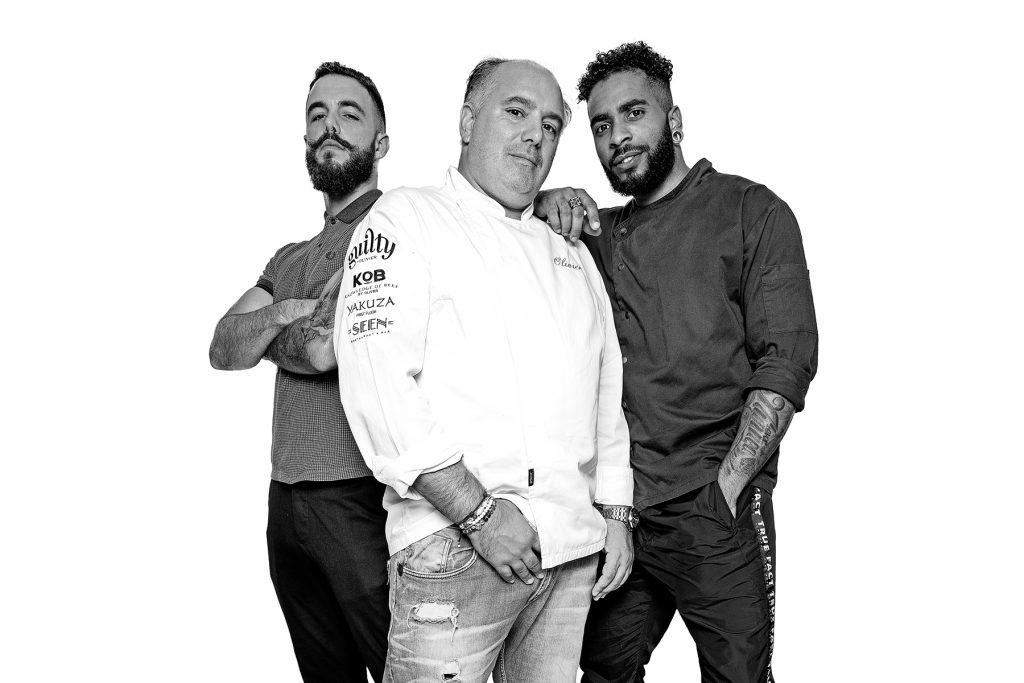 Ricardo, Olivier e Ivan. Restaurante SEEN Lisboa